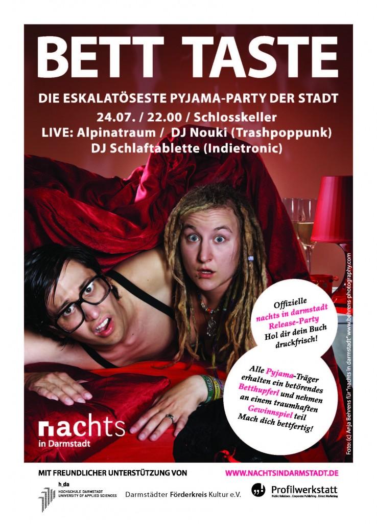 Flyer BETT TASTE - Die eskalatöseste Pyjama Party der Stadt